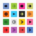 Arrow sign icon set. — Stock Vector #23686457
