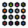 Basic sign icon set - Stock Vector