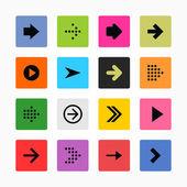 Arrow sign icon set. — Stock Vector