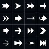 16 arrow sign pictogram set. — Stock Vector
