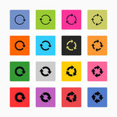 Arrow refresh icon reload sign set — Stock Vector