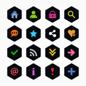 Basic sign icon set — Stock Vector