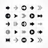 25 arrow sign pictogram set. — Stock Vector
