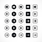 25 arrow sign icon set — Stock Vector