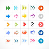 25 arrow sign pictogram set. — Stock Vector