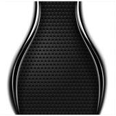Metallo perforato trama senza soluzione di continuità. bianco e nero punteggiato sfondo superficiale con striscia di metallo cromo scuro. — Vettoriale Stock