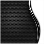Metal perforated seamless texture. White and black dotted surface background with dark chrome metal strip. — Stock Vector