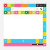 Web browser window with additional buttons — Stock Vector