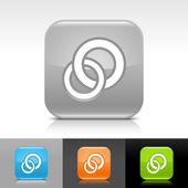 Orange, blå, grön, grå blank web internet-knappen med vita cirklar ikonen web tecken — Stockvektor