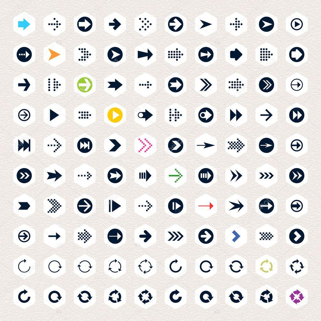 Simple Arrow Designs 100 arrow sign icon set. black pictogram on white ...: galleryhip.com/simple-arrow-designs.html