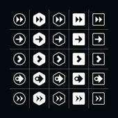 25 arrow sign icon set — Stock Vector