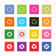 Arrow refresh icon reload sign set — Stock Vector #23801121