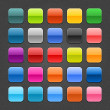 25 colored blank square web 2.0 button — Vettoriali Stock