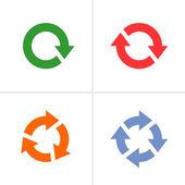 4 arrow pictogram refresh reload rotation loop sign set — Stock Vector