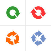 4 arrow pictogram refresh reload rotation loop sign set — Stock Vector