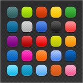 25 colored blank square web 2.0 button — Stock Vector