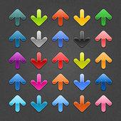 25 glossy arrow button — Stock Vector
