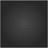 Seamless texture metal surface dotted perforated black background — Stock Vector