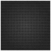 Seamless texture black metal surface dotted perforated background — Stock Vector