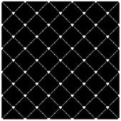 Seamless pattern with white heart symbol on black background. Template size square format. This image is a bitmap copy my vector illustration — Stock Vector