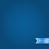 Blue jeans texture backdrop for web site. Realistic striped linen fabric background. Abstract wallpaper with fabric structure. Vector illustration clip-art element for design saved in 10 eps — Stock Vector