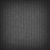 Empty texture with vertical horizontal lines and grainy noise effect. Blank black dark old vintage grunge surface metal. Template size square format. This image is a bitmap copy my vector illustration — Stock Vector