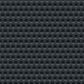 Seamless texture perforated pattern black metal surface dark gray background. Template size square format. This image is a bitmap copy my vector illustration — Stock Vector