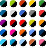 光沢のある色のストリップ ラウンド ホワイトの web ボタン — ストックベクタ