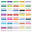35 colored badge name tag HELLO my name is. Blank sticker with shadow on wnite background - Stock Vector