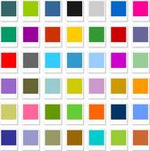 Renkli boş web düğme an fotoğraf üzerine beyaz ayarlayın — Stok Vektör