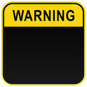 Black warning blank warning sign on white — Stock Vector
