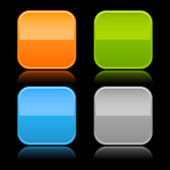 Colored glassy blank web 2.0 button — 图库矢量图片