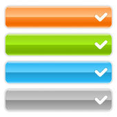 请检查登录 web 2.0 导航面板。彩色光泽互联网按钮与在白色背景上的阴影 — 图库矢量图片