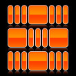 Orange glossy abstract design element on black - Image vectorielle