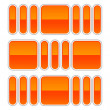 Orange glossy abstract design element on white - Векторная иллюстрация