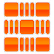 Orange glossy abstract design element on white — Imagen vectorial