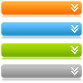 Tovigt satin färg knappar med nedladdning logga på en vit bakgrund — Stockvektor