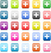石头的 web 搜索符号的按钮。25 变异圆角方形图标,带阴影和反射在白色背景上。此向量中的丝网技术创建并保存文件 8 eps — 图库矢量图片