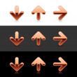 Cuprum arrow button web 2.0 icon — Imagen vectorial
