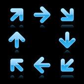 Segno web 2.0 freccia blu. — Vettoriale Stock