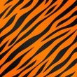 An orange and black tiger striped background. Seamlessly repeatable. - Stock Vector