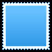 Splatany niebieski puste znaczek na czarnym tle — Wektor stockowy