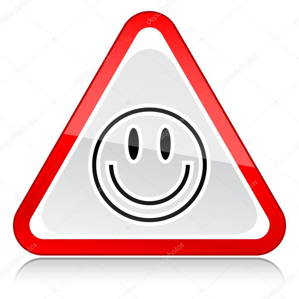 panneau davertissement rouge attention avec symbole de