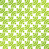 Green vector simple patterns with rss symbols — Stock Vector