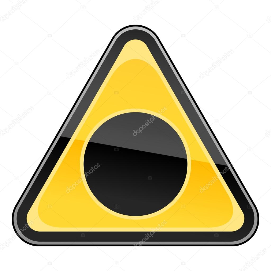 panneau de signalisation de danger jaune avec symbole de trou noir sur blanc image vectorielle. Black Bedroom Furniture Sets. Home Design Ideas