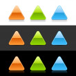Stock Vector: Glossy colored triangular web 2.0 buttons