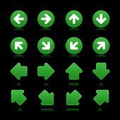 Arrow sign web 2.0 internet buttons. — Stock Vector