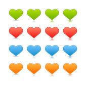 Matted color heart web buttons on white background — Stock Vector