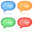 4 blank speech bubble dialog — Stock Photo
