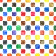 Watercolor colored blank rounded square shapes web buttons on white background — Zdjęcie stockowe